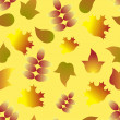 Seamless pattern with autumn colorful leafs — Stock Vector