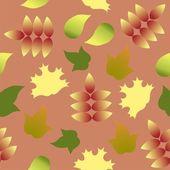 Modello senza saldatura con colorato autunno foglie — Vettoriale Stock
