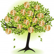 Money  tree.with dollar coins — Stock Vector