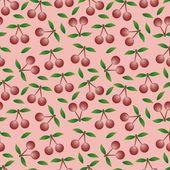 Cherry - vzor bezešvé a abstraktní pozadí — Stock vektor