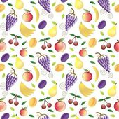 Fruits - seamless pattern and abstract nature background — Stock Vector