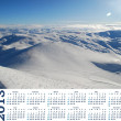 Stock Photo: Calendar 2013 with view of snow mountains in Turkey Palandoken Erzurum ski resort