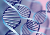 DNA helix, biochemical abstract background with defocused strands, eps10 — Stok Vektör