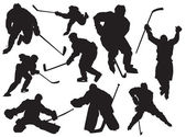 Hockey players — Stockvektor