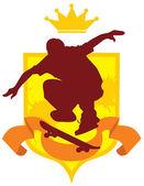 Skateboard emblem — Stock Vector