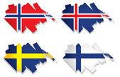 Flagi Europejskiej wektor — Wektor stockowy