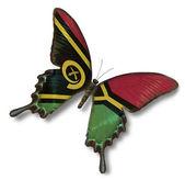 Bandera de vanuatu en mariposa — Foto de Stock