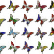 Stock Photo: Collage from European flags on butterflies