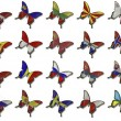 Stock Photo: Collage from Europeflags on butterflies