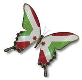 Burundi flag on butterfly — Stock Photo