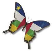 Bandera de la república centroafricana en mariposa — Foto de Stock