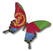 Eritrea flag on butterfly — Stock Photo