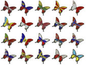 Collage from European flags on butterflies — Stock Photo