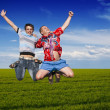 Boys jumping — Stock Photo #11640324