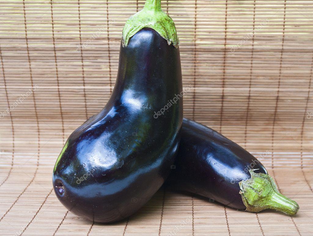 用紫茄子做的动物造型