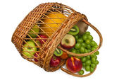 Freshness fruits in Basket — Stock Photo
