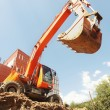 Excavator is digging ditch — Stock Photo #11956354