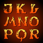 Abstract art font, hand-drawn alphabet (j, k, l, m, n, o, p, q, r ) — Stock Vector #11825209