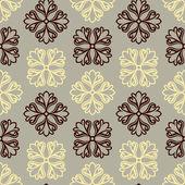 Abstrakt, damaris ornament, monochrome nahtlose muster, vektor, floral mode stoff und arabeske-wrapping grafikelement für dekoration und design — Stockvektor