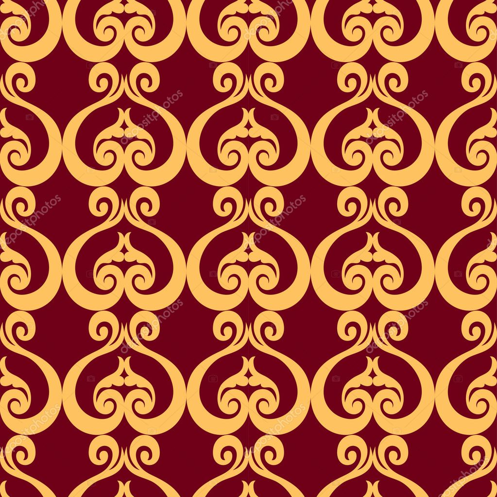 Abstract backgrounds, damask ornament, classic seamless pattern ...