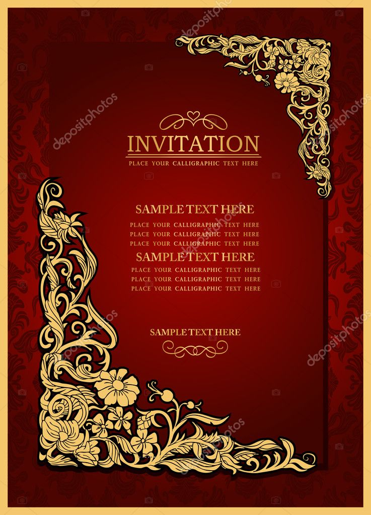 Wedding Invitation Booklet with nice invitation example