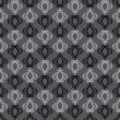 Abstract backgrounds, damask ornament, monochrome seamless pattern, vector wallpaper, floral fashion fabric and arabesque wrapping with graphic element for decoration and design - Stock Photo