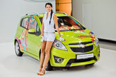MOSCOW, RUSSIA - AUGUST 26: Chevrolet Spark Smeiliner on 26 Au — Stock Photo