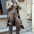 Постер, плакат: The monument of Leopold von Sacher Masoch in Lviv