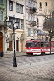 リヴィウ通り, ウクライナ — ストック写真