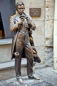 The monument of Leopold von Sacher-Masoch in Lviv — Stock Photo