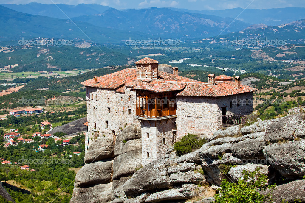 The Holy Monastery of Rousanou / St. Barbara (founded in the middle of 16th century AD) Meteora, Greece — Stock Photo #11630026