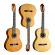 Stock Photo: Set of three classical guitars