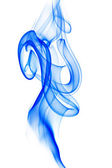 Blue smoke on white — Stock Photo