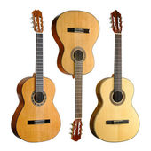Set of three classical guitars — Stock Photo