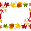 Colorful autumn leaves building a frame — Stock Photo