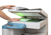 Working with a copier — Stock Photo