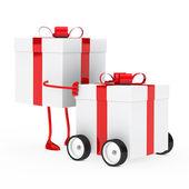 Obrázek nabízené dárkové krabice — Stock fotografie