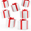 Christmas gift boxes - Foto Stock