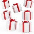 Christmas gift boxes — Stock Photo #10945358