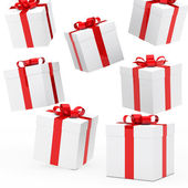 Christmas gift boxes — Foto Stock