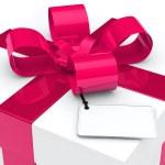 Gift box pink ribbon — Stock Photo #11730317