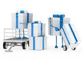 Gift box onload — Stock Photo