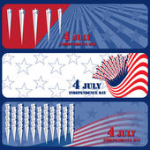 Banner July 4 Independente Day — Stock Vector
