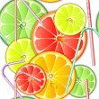 Seamless pattern citrus fruit — Stock Vector #11523083