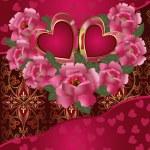 Saint Valentine's Day card — Stock Vector