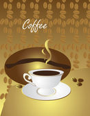 Cup of coffee — Stock Vector