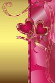 Valentinstagskarte — Stockvektor