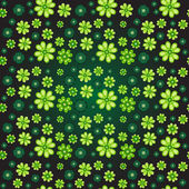 Seamless pattern with clover — Stock Vector