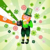 St. Patrick's Day leprechaun — Stock Vector