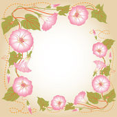 Background with pink Morning glory — Stock Vector